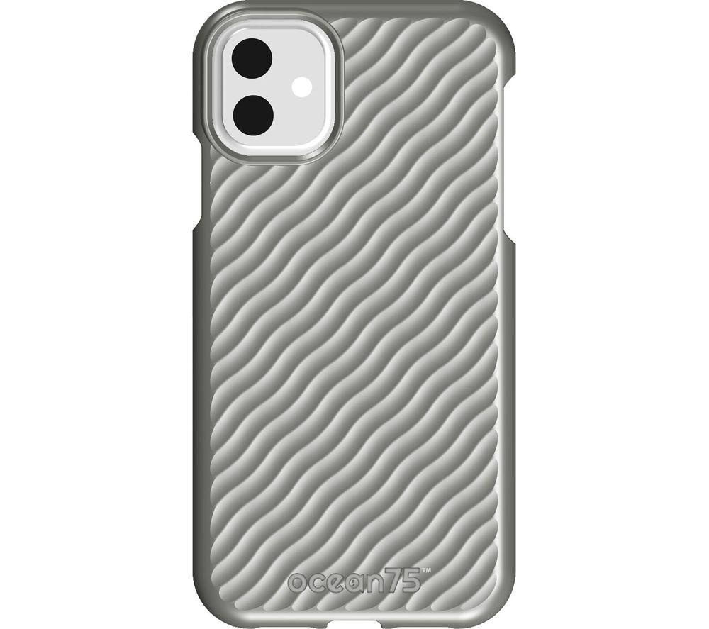 Image of Ocean Wave iPhone 11 Case - Dolphin Grey, Grey