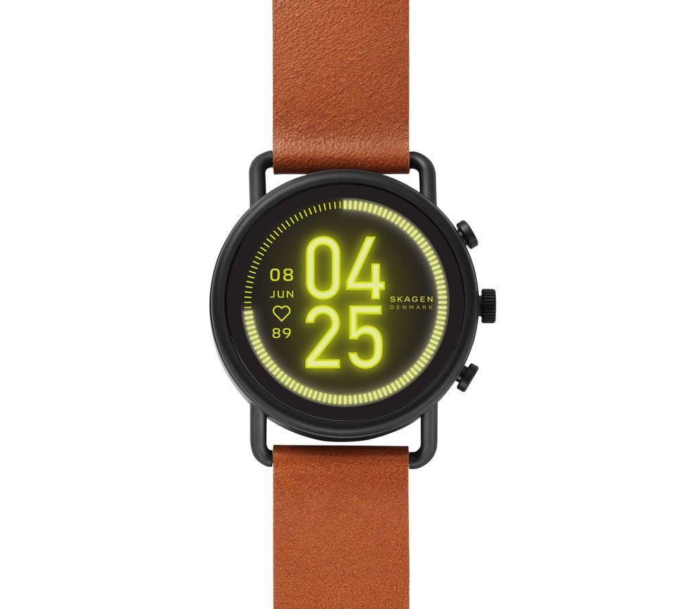 Image of SKAGEN Falster 3 SKT5201 Smartwatch - Brown, Leather Strap, 42 mm, Brown