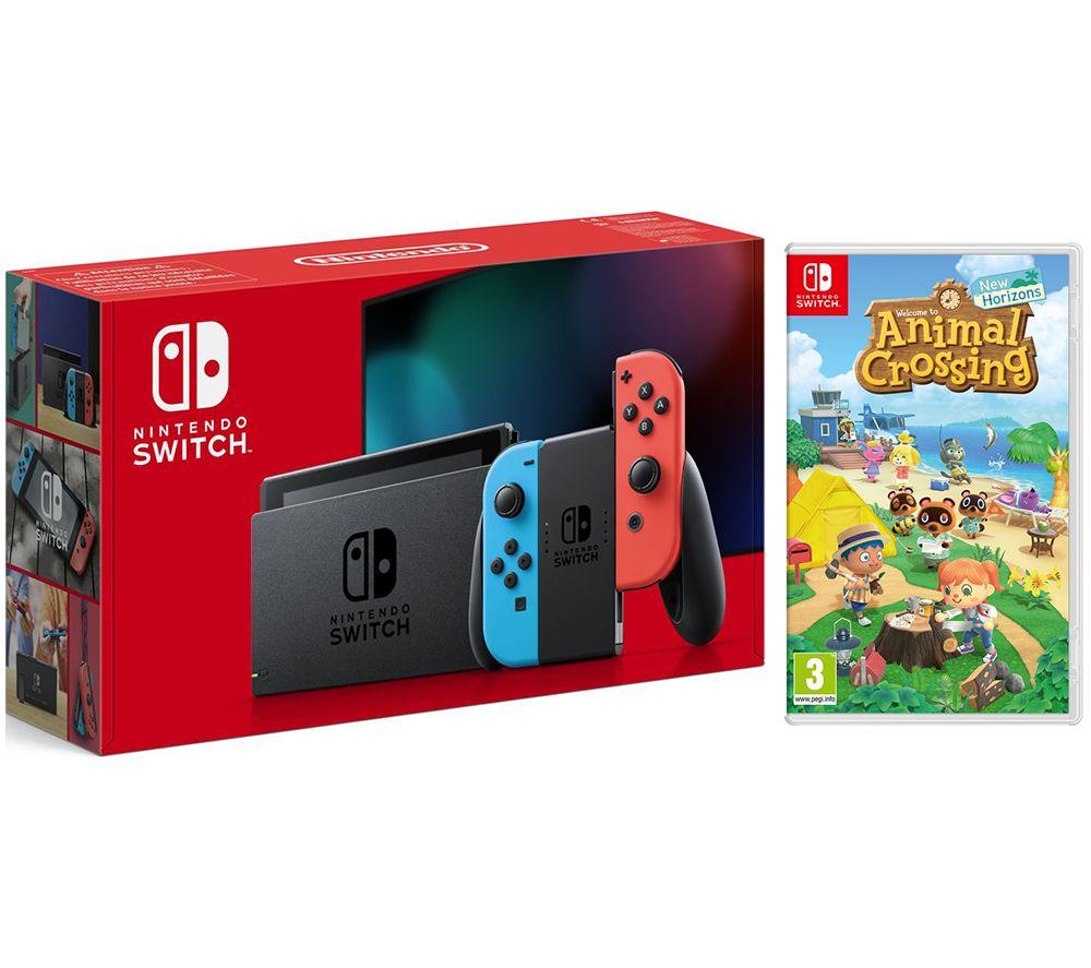 NINTENDO Switch Neon & Animal Crossing: New Horizons Bundle