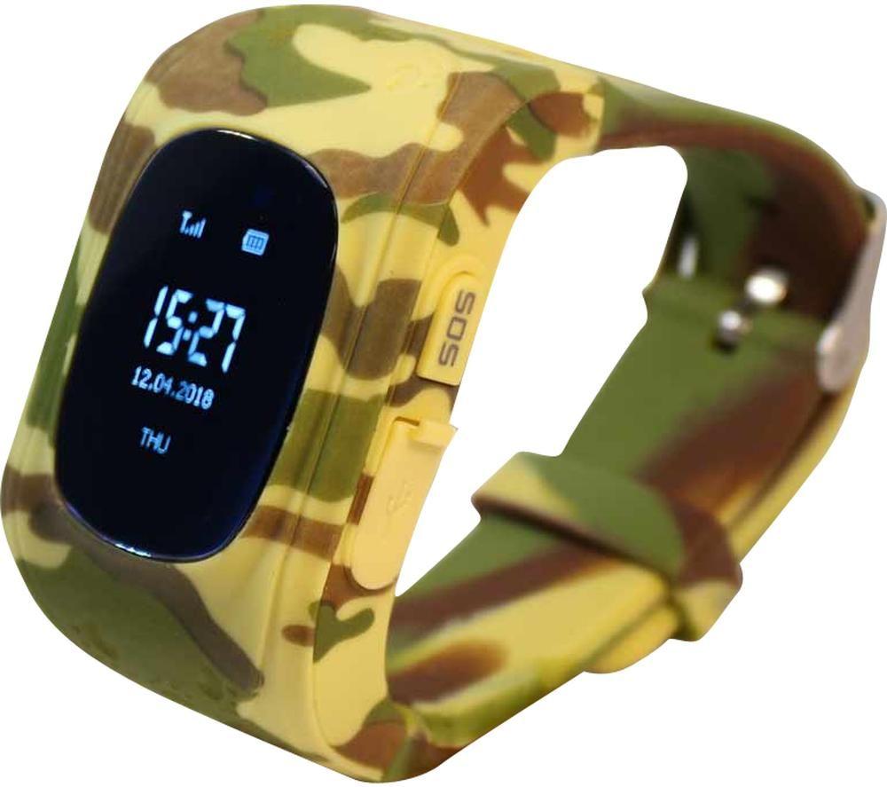 Image of PINIT Intigo P1 Kids Smartwatch - Desert Camouflage, Rubber Strap