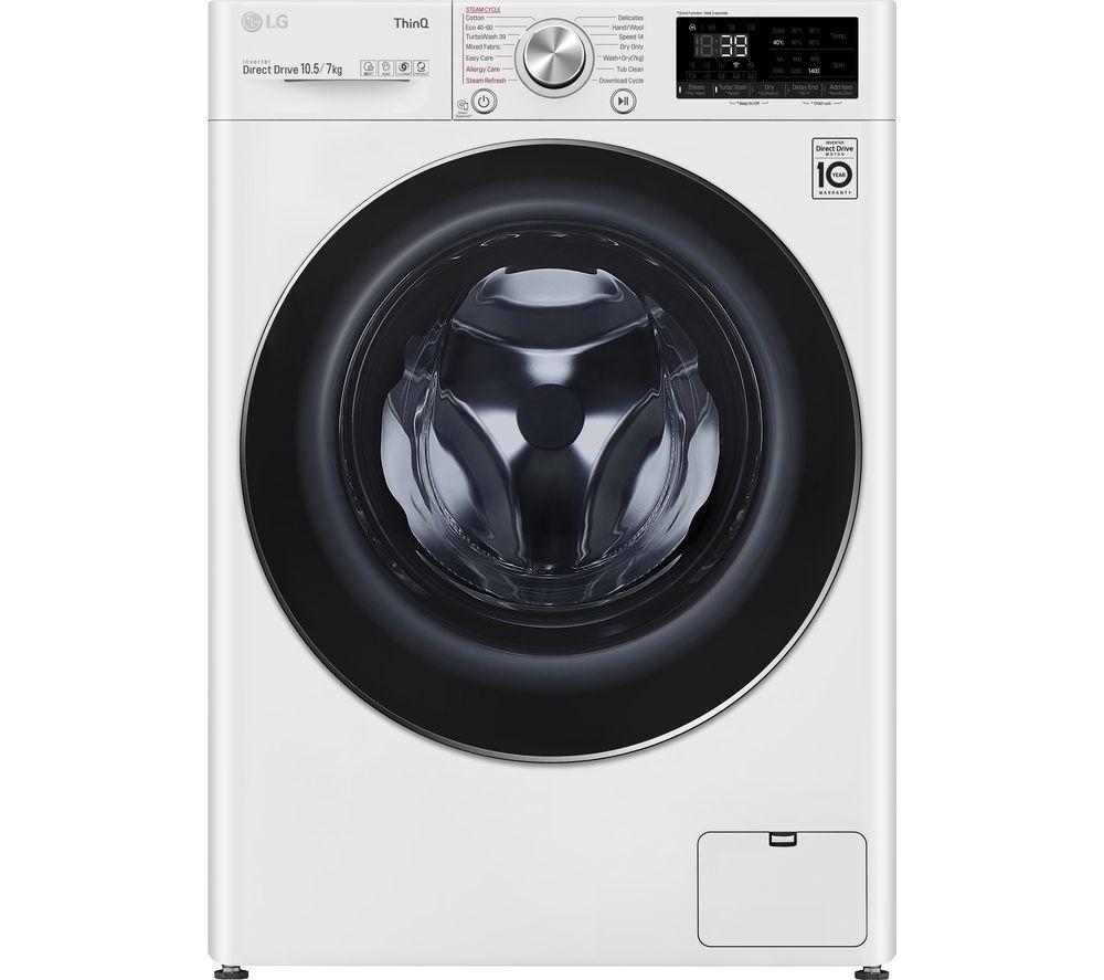 LG TurboWash 360 with AI DD V9 FWV917WTSE WiFi-enabled 10.5 kg Washer Dryer - White