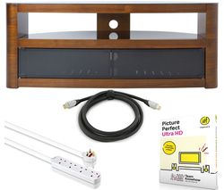 TV Stand Bundle - TV Stand, Picture Perfect, Extension Lead & HDMI Cable