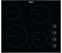 ZANUSSI ZHRN640K Electric Ceramic Hob - Black Best Price, Cheapest Prices