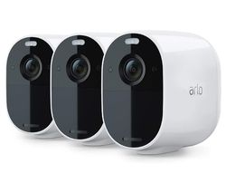 Essential Spotlight VMC2330-100EUS Full HD WiFi Security Camera - White, Pack of 3