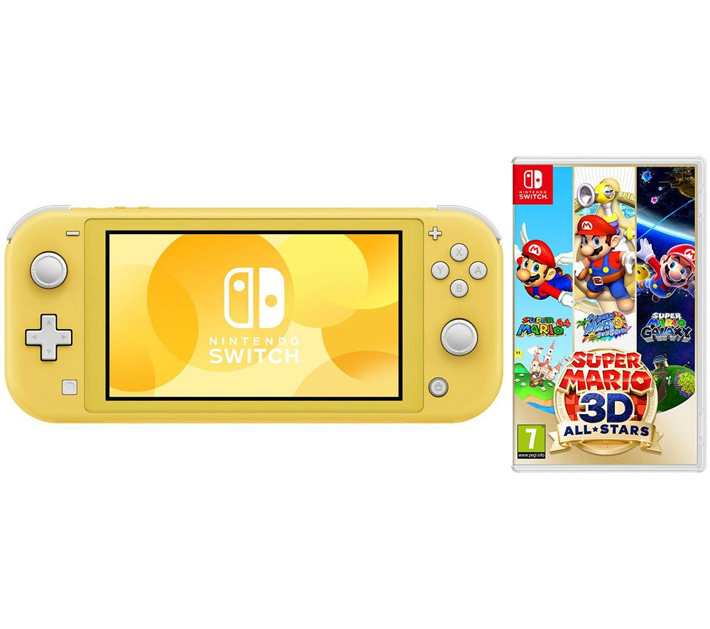 NINTENDO Switch Lite & Super Mario 3D All-Stars Bundle - Yellow
