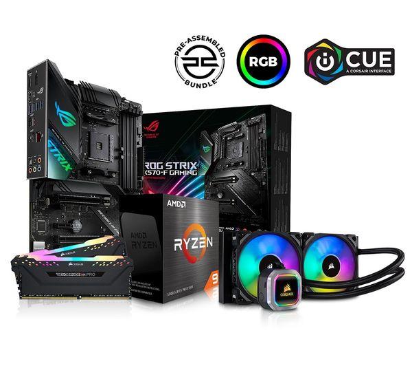 Image of PC SPECIALIST AMD Ryzen 9 Processor, ROG STRIX Motherboard, 16 GB RAM & Corsair RGB Cooler Components Bundle