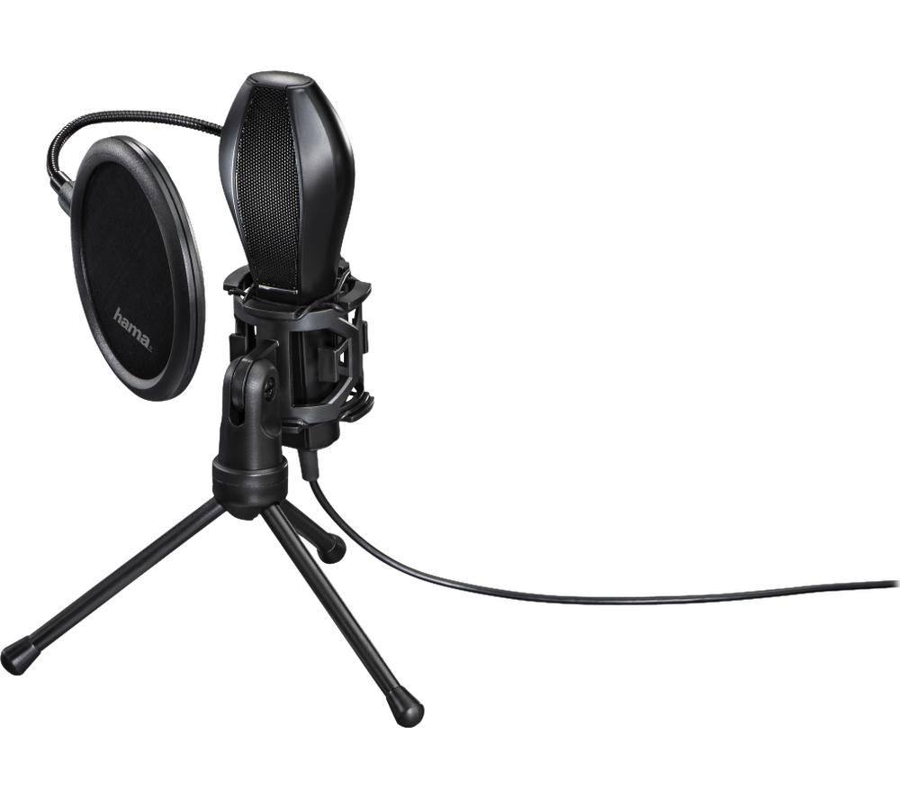 Image of Hama MIC-USB Stream PC microphone Black Corded
