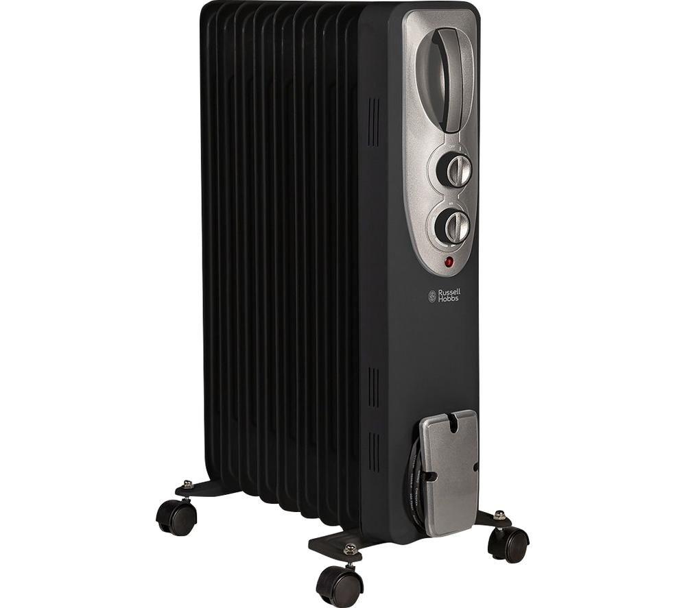 RUSSELL HOBBS RHOFR5002B Portable Oil-Filled Radiator - Black