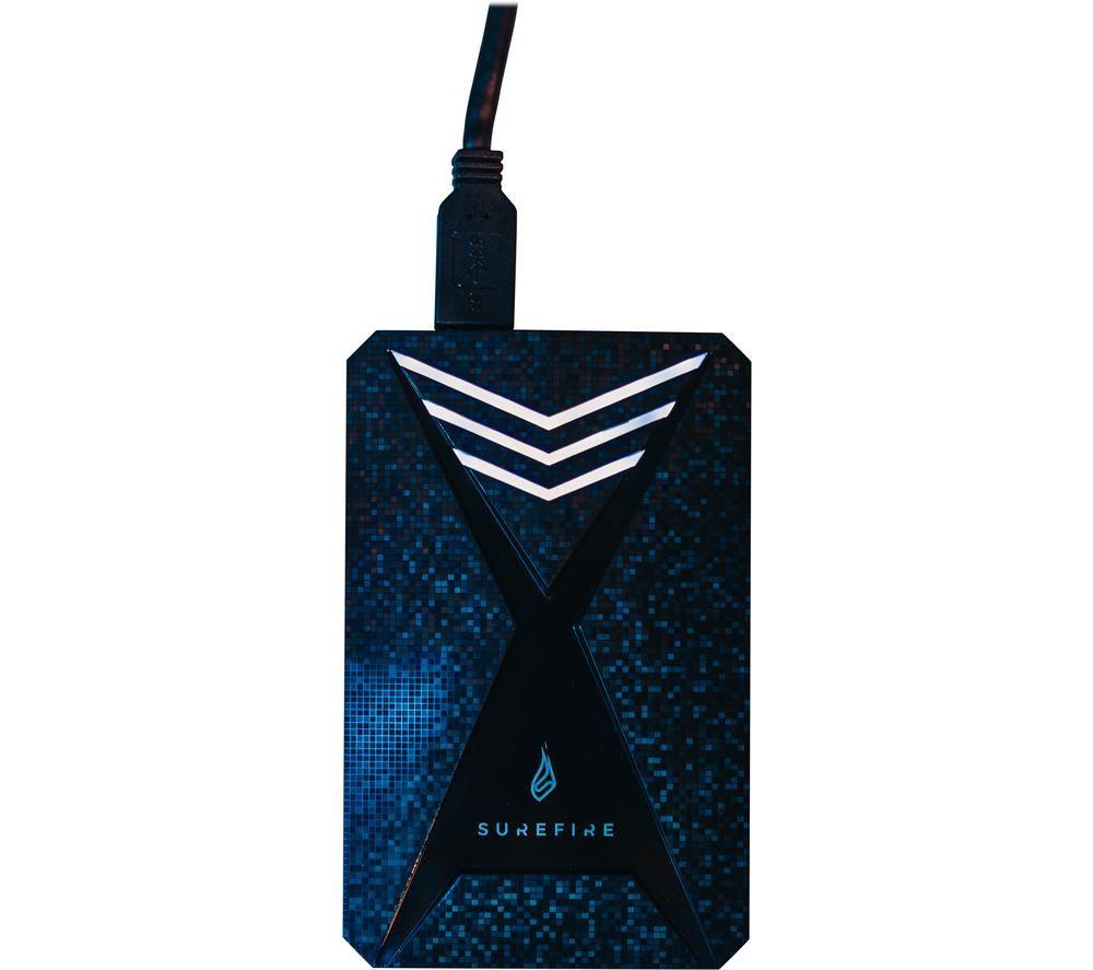 SUREFIRE GX3 Gaming External SSD - 1 TB, Black