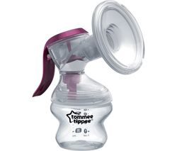 Made for Me Single Manual Breast Pump - White & Purple