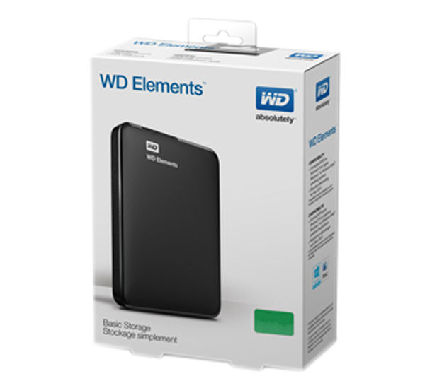 buy wd elements portable hard drive 1 tb black free delivery currys. Black Bedroom Furniture Sets. Home Design Ideas