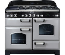 Classic Deluxe 110 Dual Fuel Range Cooker - Royal Pearl & Chrome