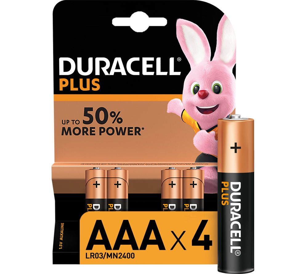 Buy DURACELL AAA Plus Alkaline Batteries - Pack of 4