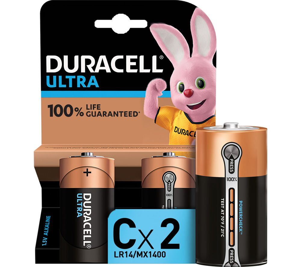 DURACELL LR14/MX1400 Ultra Power C Batteries - Pack of 2