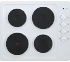 ESSENTIALS CSPHOBW15 Electric Solid Plate Hob - White