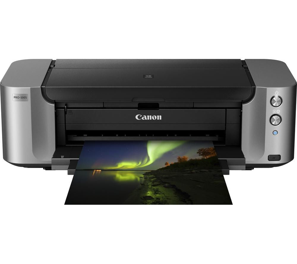 Image of CANON PIXMA PRO-100s Wireless A3 Inkjet Printer, Black