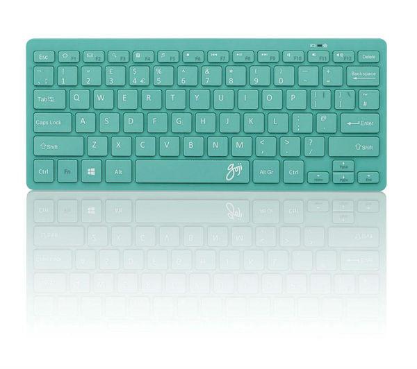 goji gkbmmtq16 wireless keyboard turquoise currys pc world business. Black Bedroom Furniture Sets. Home Design Ideas