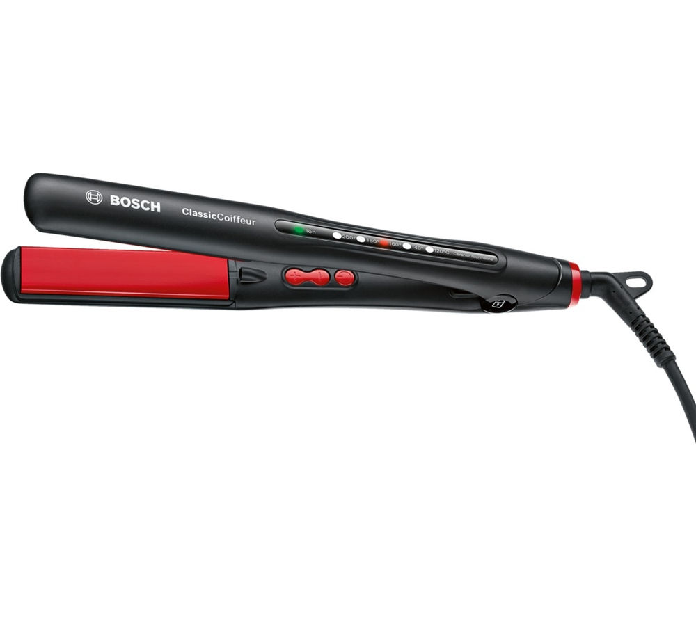 BOSCH ClassicCoiffeur PHS7961GB Hair Straighteners - Black & Red