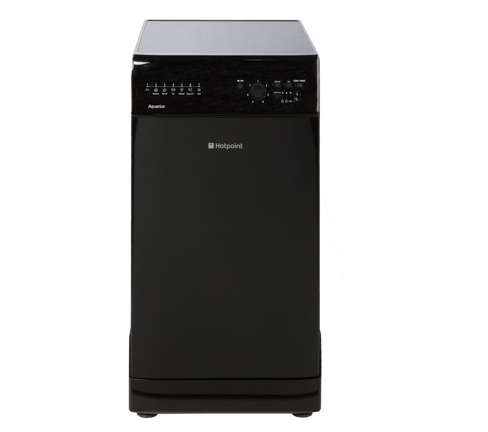 HOTPOINT SIAL11010K Slimline Dishwasher - Black