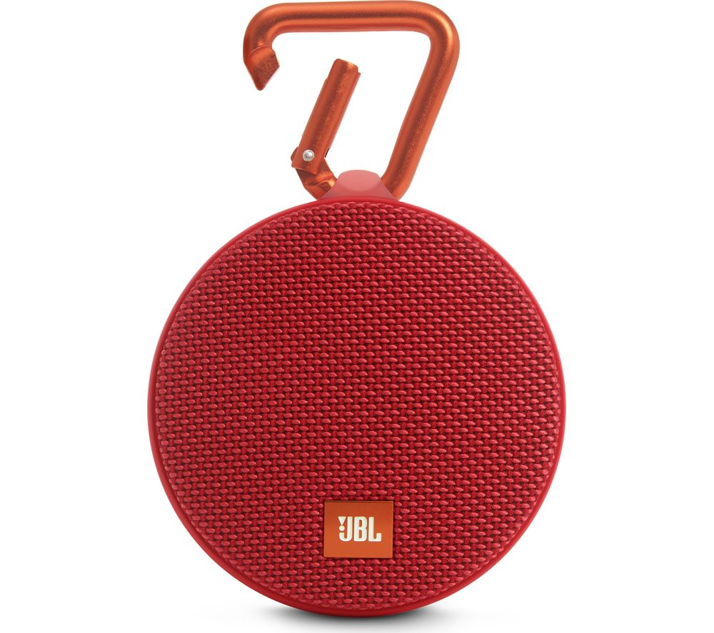 JBL Clip 2 Portable Bluetooth Wireless Speaker - Red