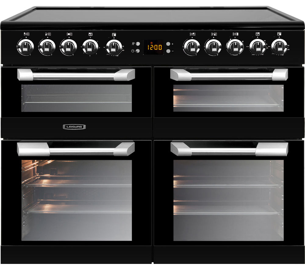 LEISURE Cuisinemaster CS100C510K 100 cm Electric Range Cooker - Black & Stainless Steel