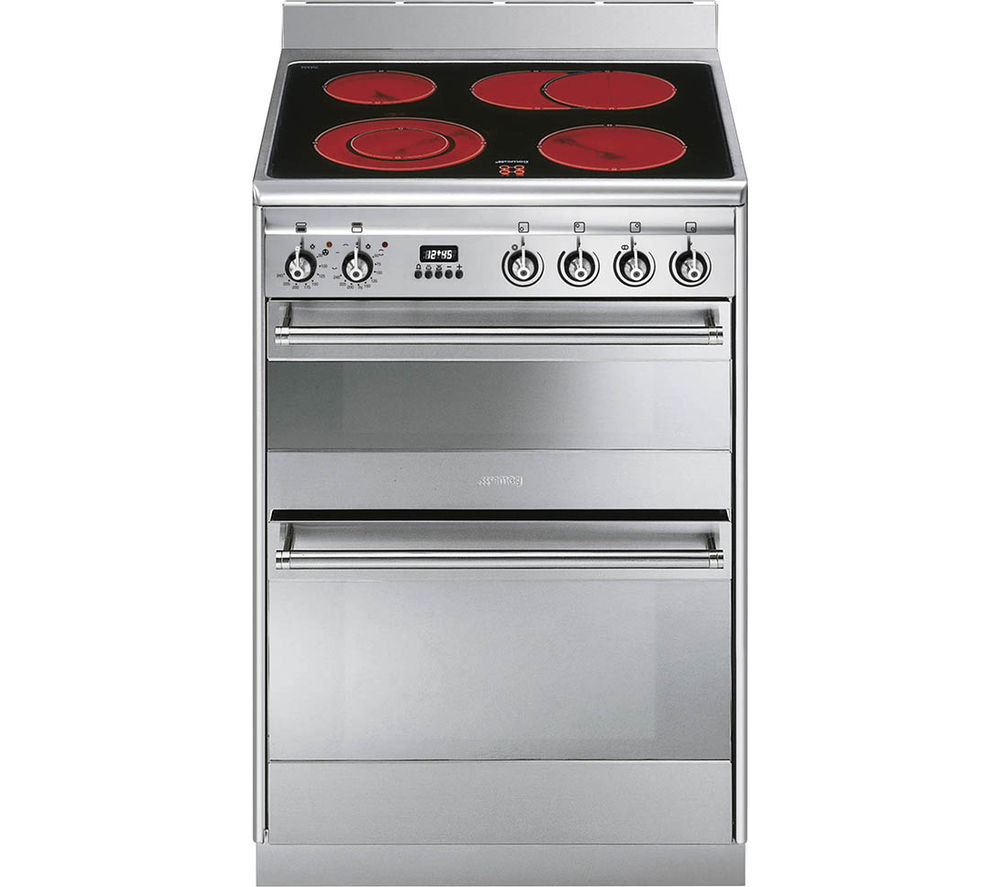 SMEG SUK62CMX8 60 cm Electric Ceramic Cooker - Stainless Steel