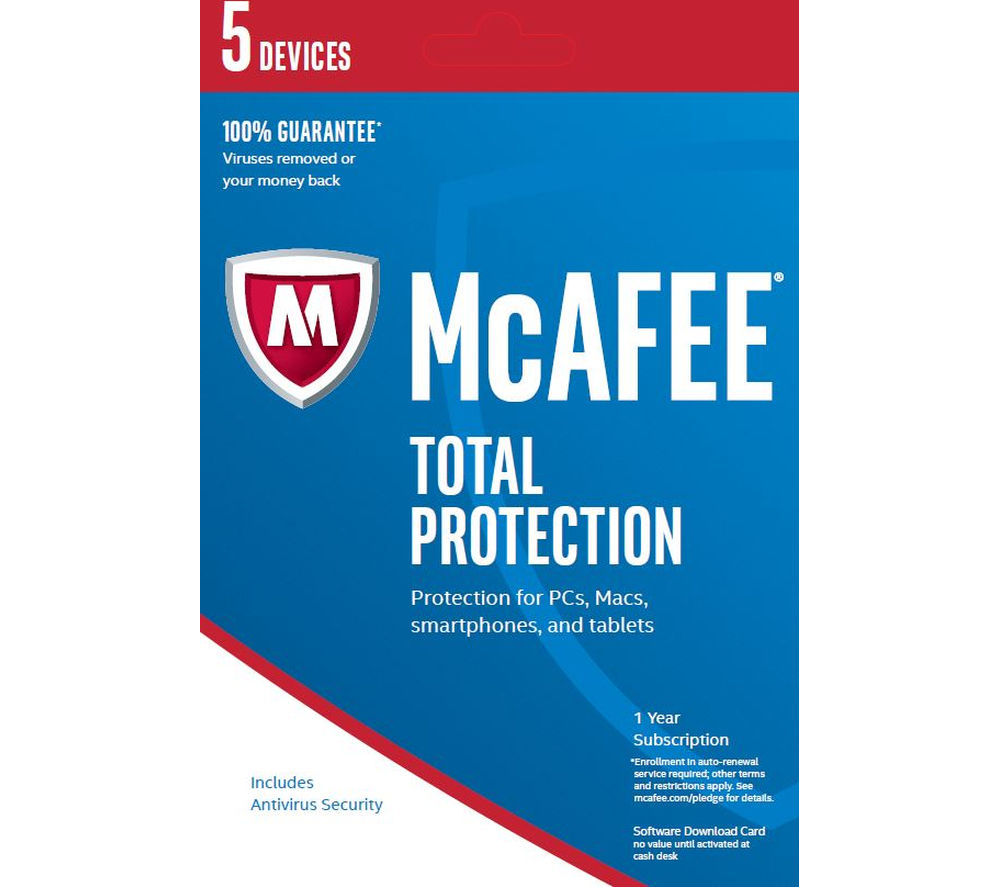 MCAFEE Total Protection 2017 - 1 year for 5 devices