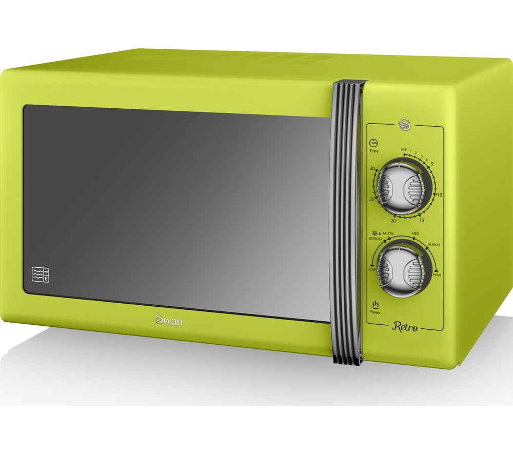 SWAN Retro SM22070LN Solo Microwave - Lime