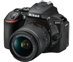 NIKON D5600 DSLR Camera with 18-55 mm f/3.5-5.6 Lens - Black