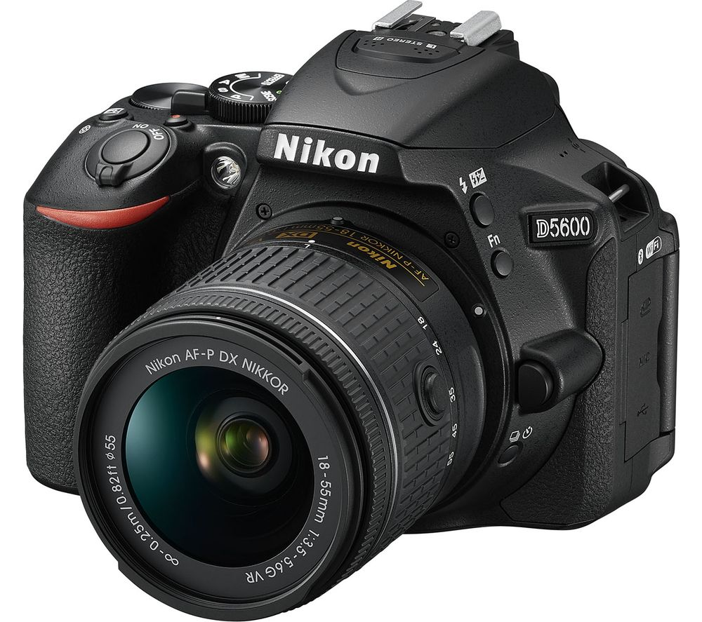 NIKON D5600 DSLR Camera with DX 18-55 mm f/3.5-5.6G VR Lens
