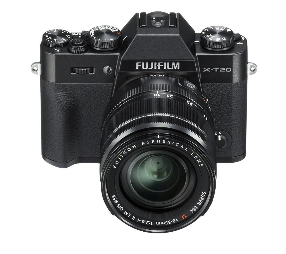 FUJIFILM X-T20 Mirrorless Camera with XF 18-55 mm f/2.8-4 R LM OIS Lens + Fujinon XF 35 mm f/2.0 R WR Standard Prime Lens