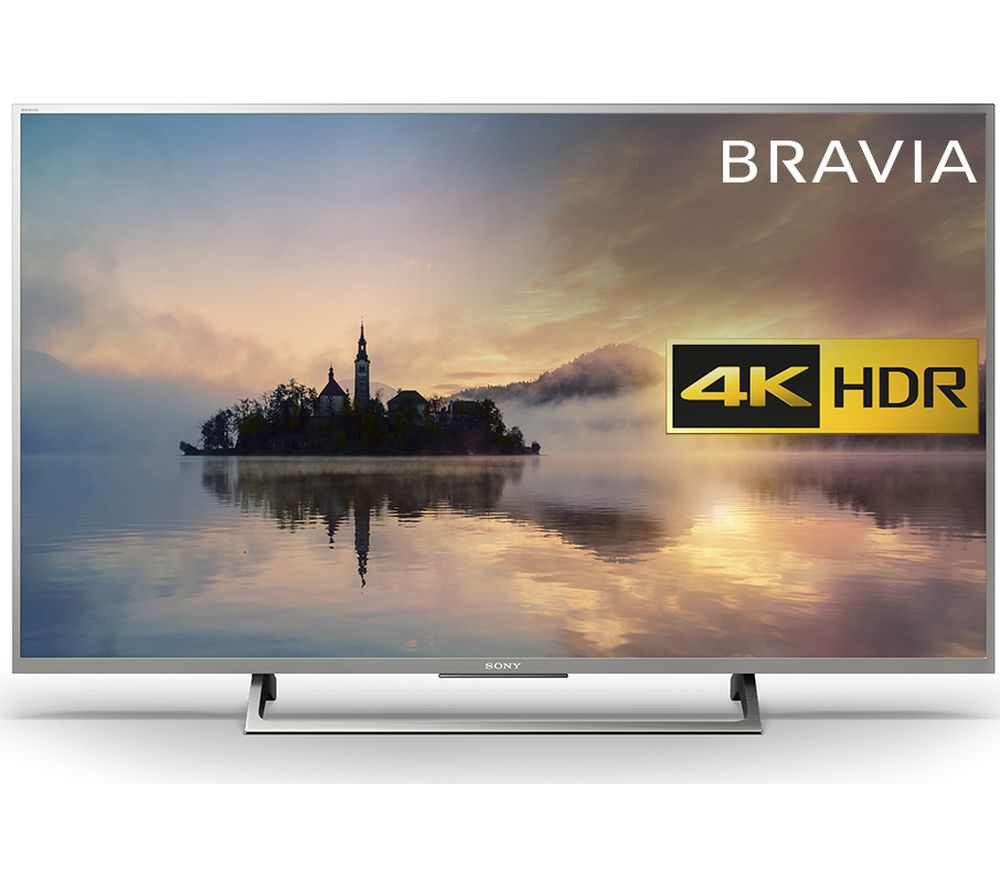 "Sony BRAVIA KD49XE7073 49"" Smart 4K Ultra HD HDR LED TV + S1HDM315 HDMI Cable with Ethernet - 1 m"