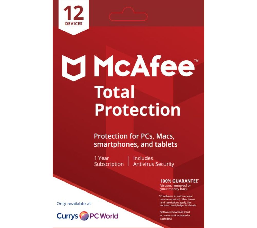 MCAFEE Total Protection 2018 - 1 year for 12 devices