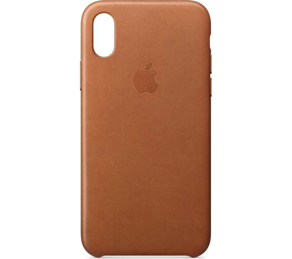 APPLE iPhone X Leather Case - Saddle Brown
