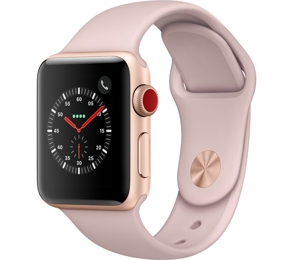 APPLE Watch Series 3 Cellular - Pink, 38 mm, Pink cheapest retail price