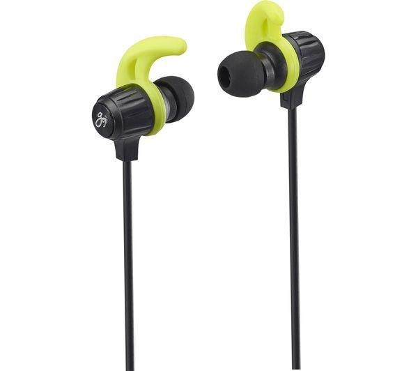 e941bbb06bf Buy GOJI GSFINBT18 Wireless Bluetooth Headphones - Black & Green ...