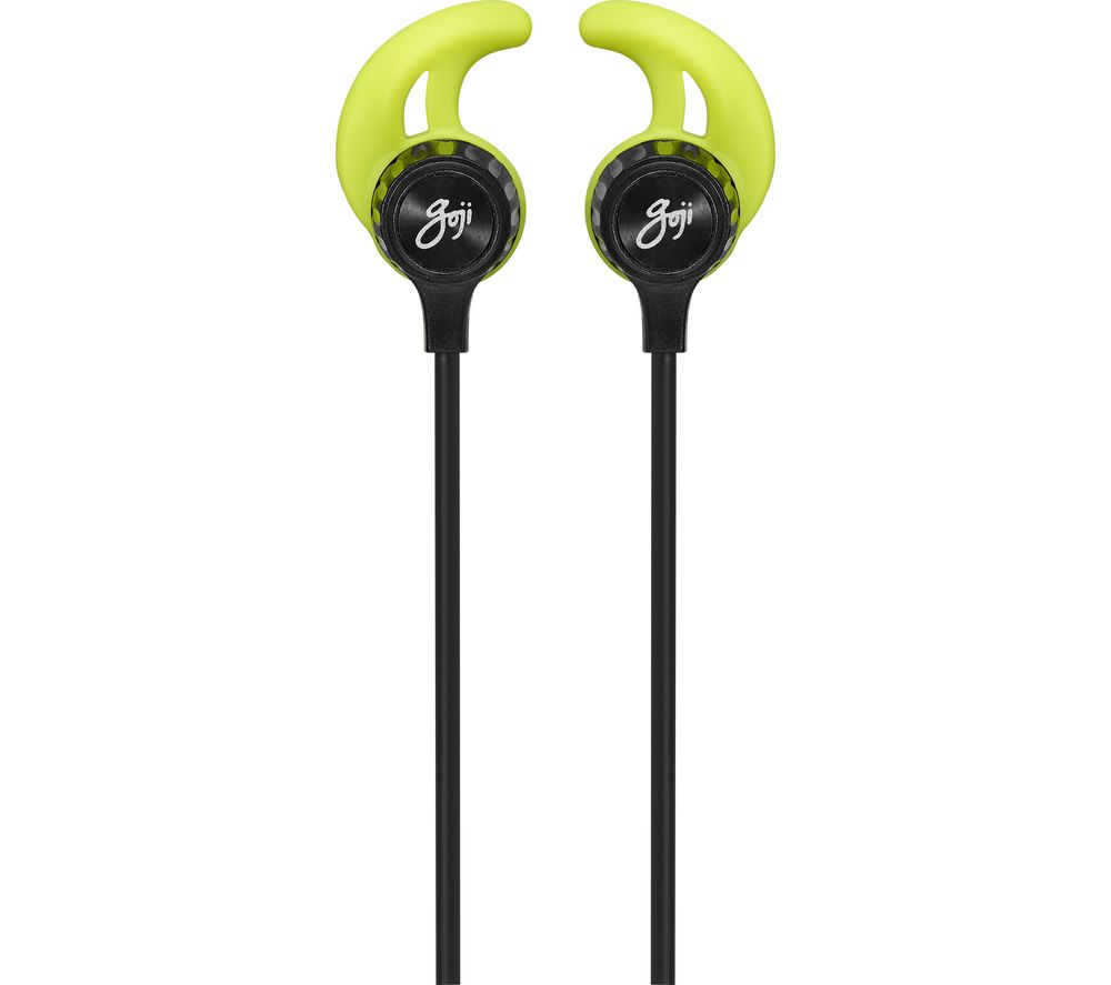 GOJI GSFINBT18 Wireless Bluetooth Headphones - Black & Green