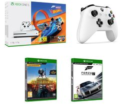 MICROSOFT Xbox One S with Forza Horizon 3 & Hot Wheels Expansion Pack