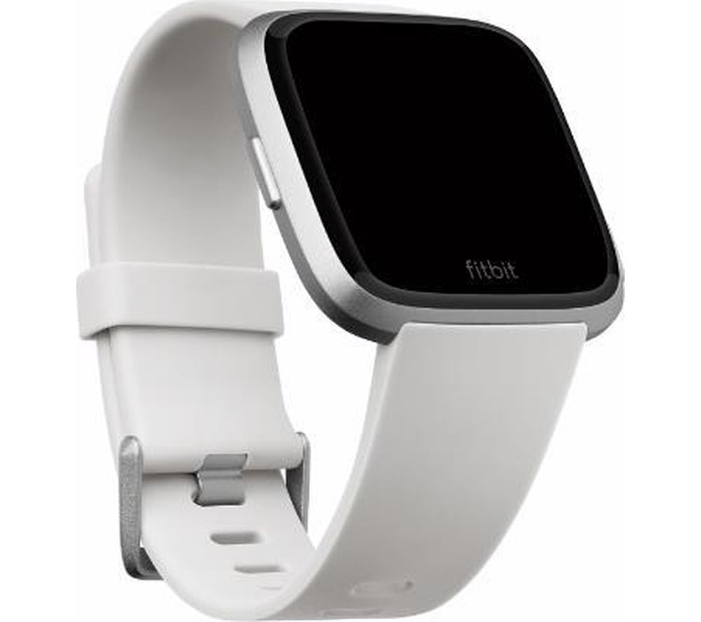 FITBIT Versa Classic Band - White, Large + Versa Retail Charging Cable - Black