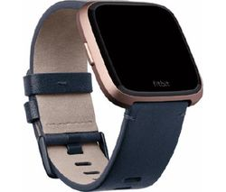 FITBIT Versa Leather Band - Blue, Large