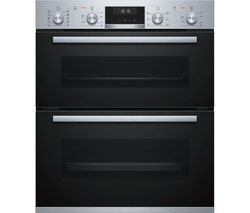 BOSCH NBA5570S0B Electric Built-under Double Oven - Stainless Steel