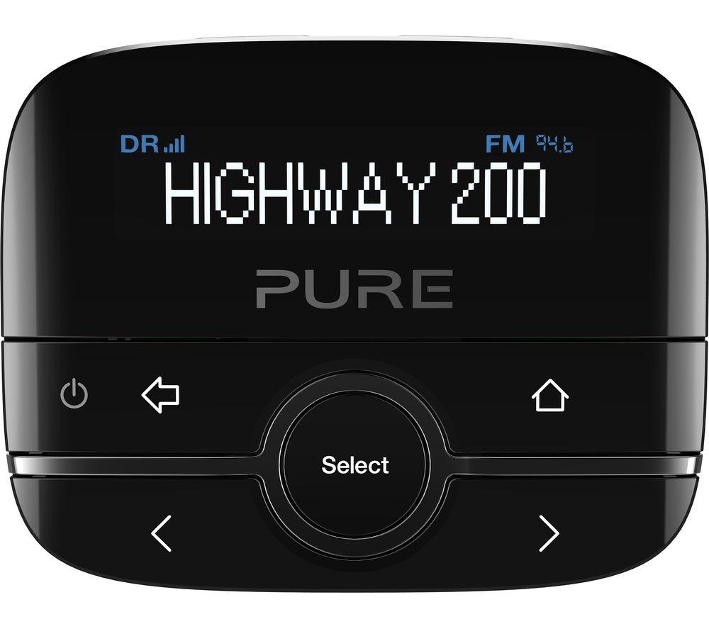 buy pure highway 200 dab fm car radio adapter black. Black Bedroom Furniture Sets. Home Design Ideas