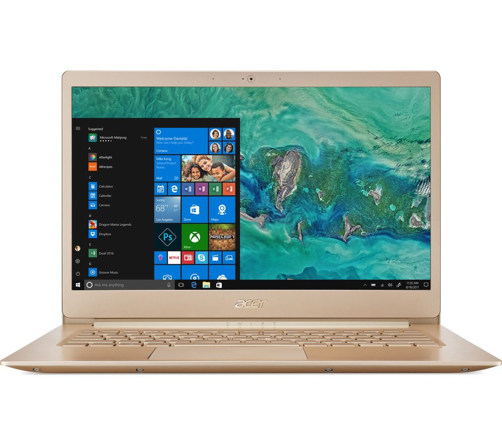 """Image of ACER Swift 5 14"""" Intel® Core? i5 Laptop - 256 GB SSD, Gold, Gold"""