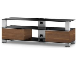 SONOROUS Mood 9140 1400 mm TV Stand - Black, Walnut & Silver