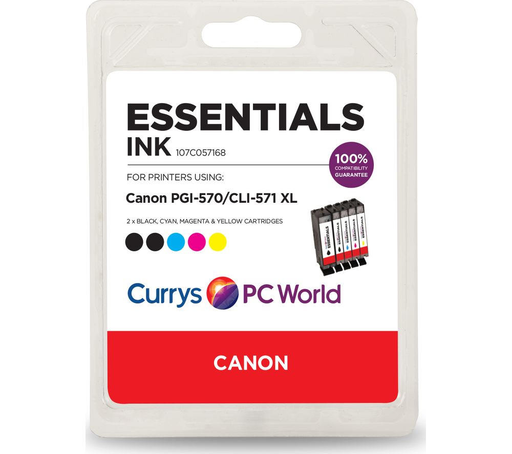 ESSENTIALS Canon 570XL & 571XL Cyan, Magenta, Yellow & Black x 2 Ink Cartridges - Multipack