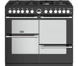 STOVES Sterling S1000DF BK 100 cm Dual Fuel Range Cooker - Black