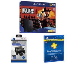 SONY PlayStation 4 Pro, Red Dead Redemption 2, Docking Station & PlayStation Plus Bundle