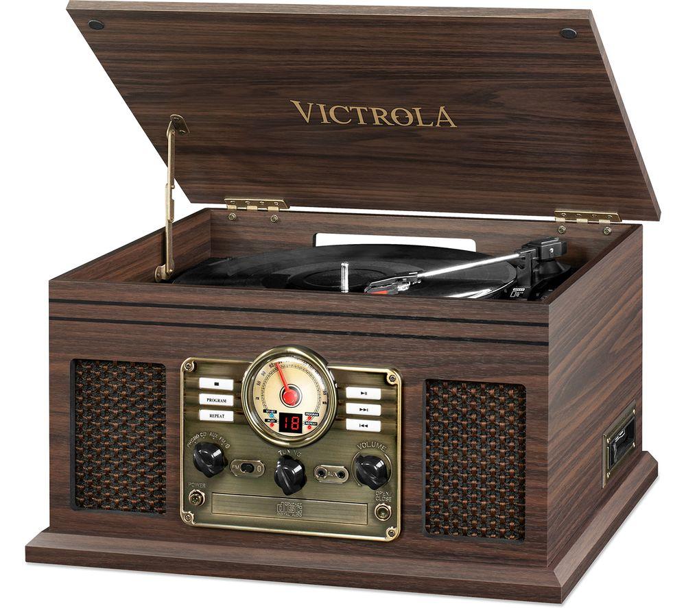 VICTROLA VTA 200 Classic 6-in-1 Belt Drive Bluetooth Music Centre - Espresso
