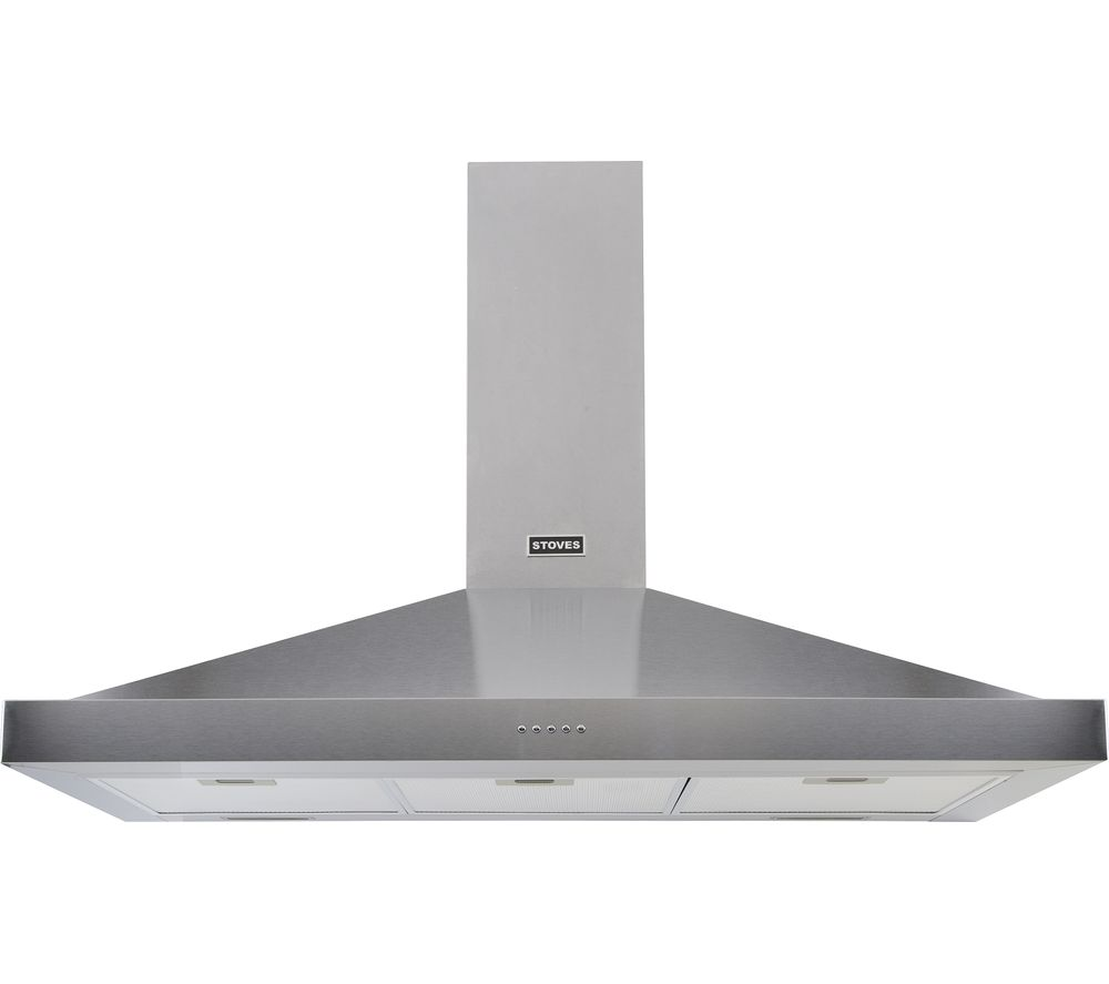 STOVES Sterling S1100 Chimney Cooker Hood - Stainless Steel