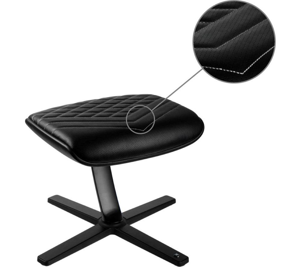 Image of NOBLECHAIRS NBL-FR-PU-BW Footrest - Black & White, Black